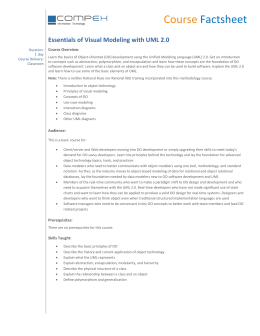 Essentials of Visual Modeling with UML 2.0