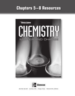 Chemistry Worksheets Chapter 5-8