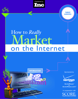 How to really market on the internet