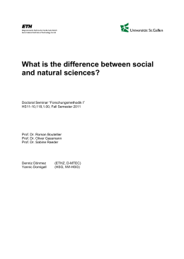 What is the difference between social and natural sciences?