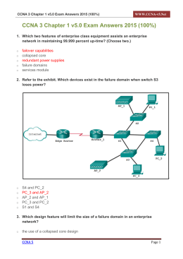 CCNA 3 Chapter 1 v5.0 Exam Answers 2015 (100%) PDF