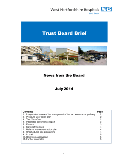 Trust Board Brief - West Hertfordshire Hospitals NHS Trust