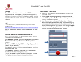 ChemWatch® and ChemFFX - Environmental Health and Safety