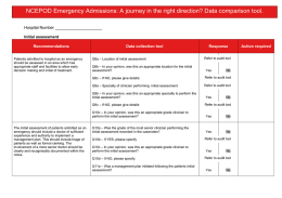 NCEPOD Emergency Admissions: A journey in the right direction