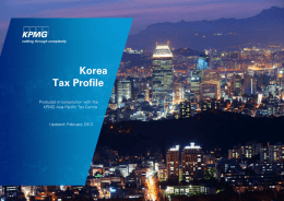 KPMG Country Tax Profile: Republic of Korea