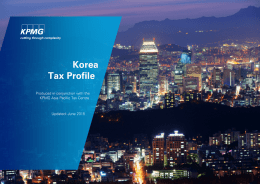 Korea tax profile