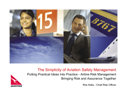 Airline Risk Management