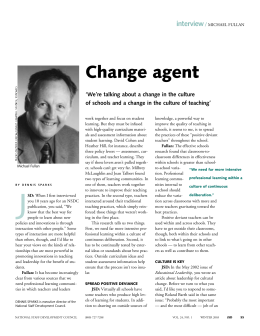Change agent - Learning Forward