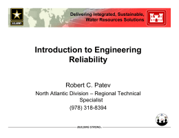 Introduction to Engineering Reliability • Reliability Index