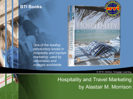 Hospitality and Travel Marketing by Alastair M