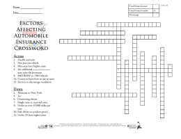 Factors Affeting Auto Insurance Crossword 1.16.1.A3