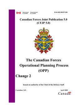 Canadian Forces Joint Publication 5.0