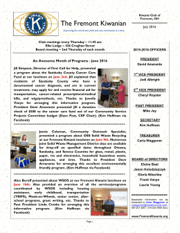 Current Newsletter - Kiwanis Club