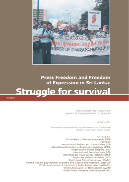 Press Freedom and Freedom of Expression in Sri Lanka: Struggle