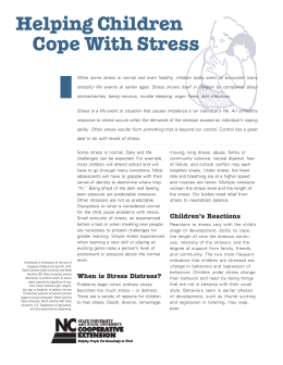 Helping Children Cope With Stress