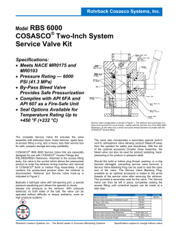 Rohrback Cosasco Systems, Inc. Model RBS 6000 COSASCO
