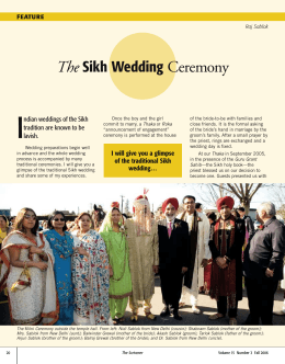 The Sikh Wedding Ceremony - The Society of Notaries Public of BC