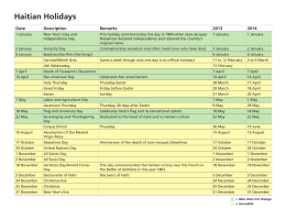 List of Haitian Holidays