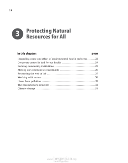 Protecting Natural Resources for All