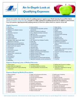 FSA Qualifying Expenses