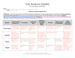 Name: Date:______ Emperors of Rome History Hunt Directions
