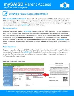 mySAISD Parent Access