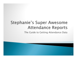 The Guide to Getting Attendance Data