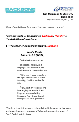 "Webster`s definition of Backbone – ""firm, and resolute character"