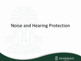 Noise and Hearing Protection