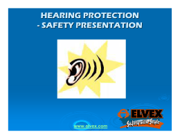 hearing protection - safety presentation