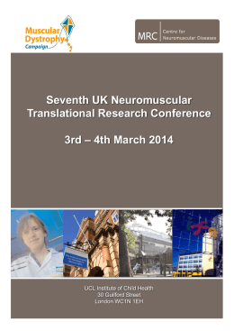 Conference brochure - Queen Square Centre for Neuromuscular