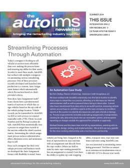 Streamlining Processes through Automation