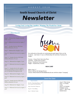 Newsletter - South Sound Church of Christ