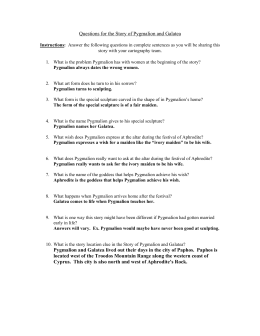 Questions for the Story of Pygmalion and Galatea
