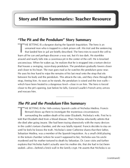 Story and Film Summaries: Teacher Resource