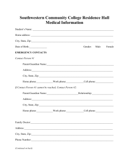 2016-17 Medical Information Form