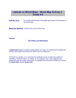 Latitude on World Maps - 1