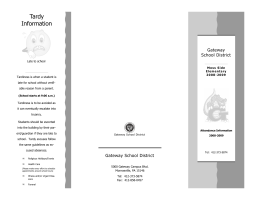 Attendance Brochure - Gateway School District