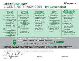 SuccessRIGHTNow LICENSING TRACK 2014 – My Commitment