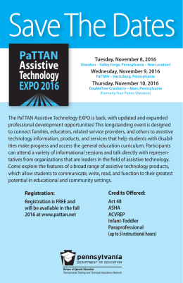 PaTTAN Assistive Technology EXPO 2016