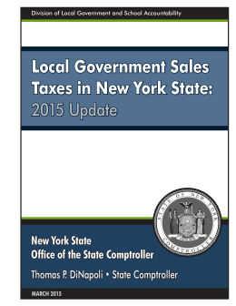 Local Government Sales Taxes in New York State