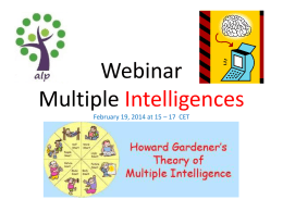 Webinar Multiple Intelligences - alp
