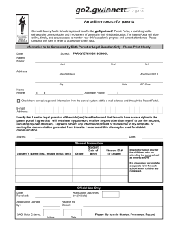 Parent Registration Form