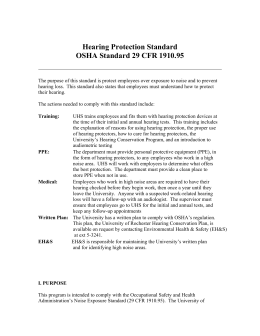 PDF Version of Hearing Protection Standard