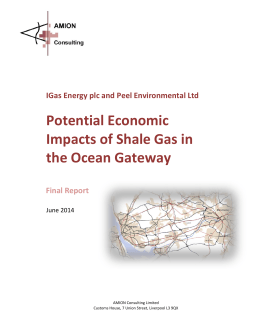 Potential Economic Impacts of Shale Gas in the Ocean Gateway