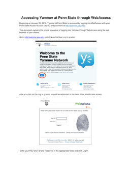 Accessing Yammer at Penn State through WebAccess