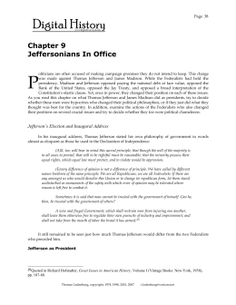 Chapter 9 Jeffersonians In Office