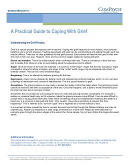A Practical Guide to Coping With Grief