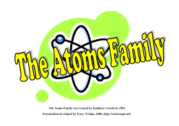 Atomic Math Challenge and Atoms Family Powerpoint