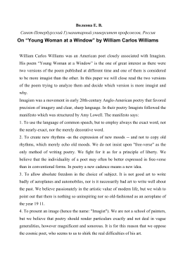 "On ""Young Woman at a Window"" by William Carlos Williams"